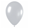 Silver 30cm latex birthday party balloons