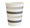 Silver and Black Striped Cups