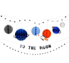 To the Moon Outer Space Birthday Party Garland