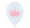White Crown Princess Birthday Party Balloon