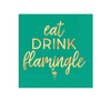eat drink flamingle cocktail napkins