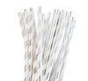 Silver Paper Party Straw
