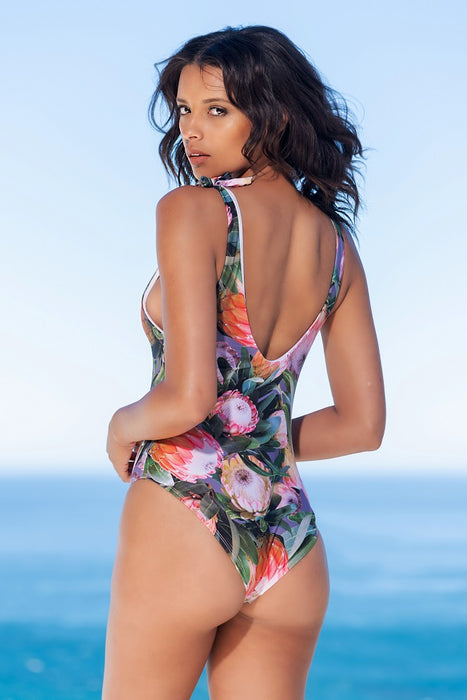 Protea Shoulder Tie One-piece