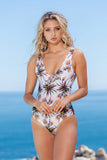 White Aloe Backless One-Piece
