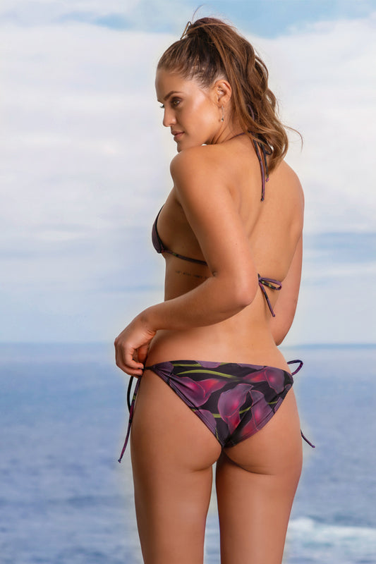 Arum Lily String Bottoms - Blk