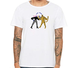 Repetition Coffee T-tshirt - Girl & Cheetah