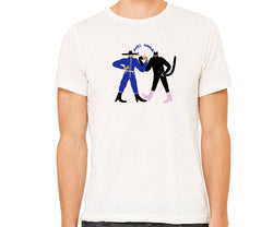 Repetition Coffee T-tshirt - Bird Man & Cat