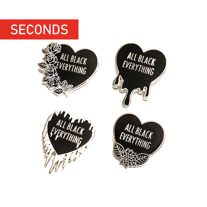 All Black Everything Pin Set