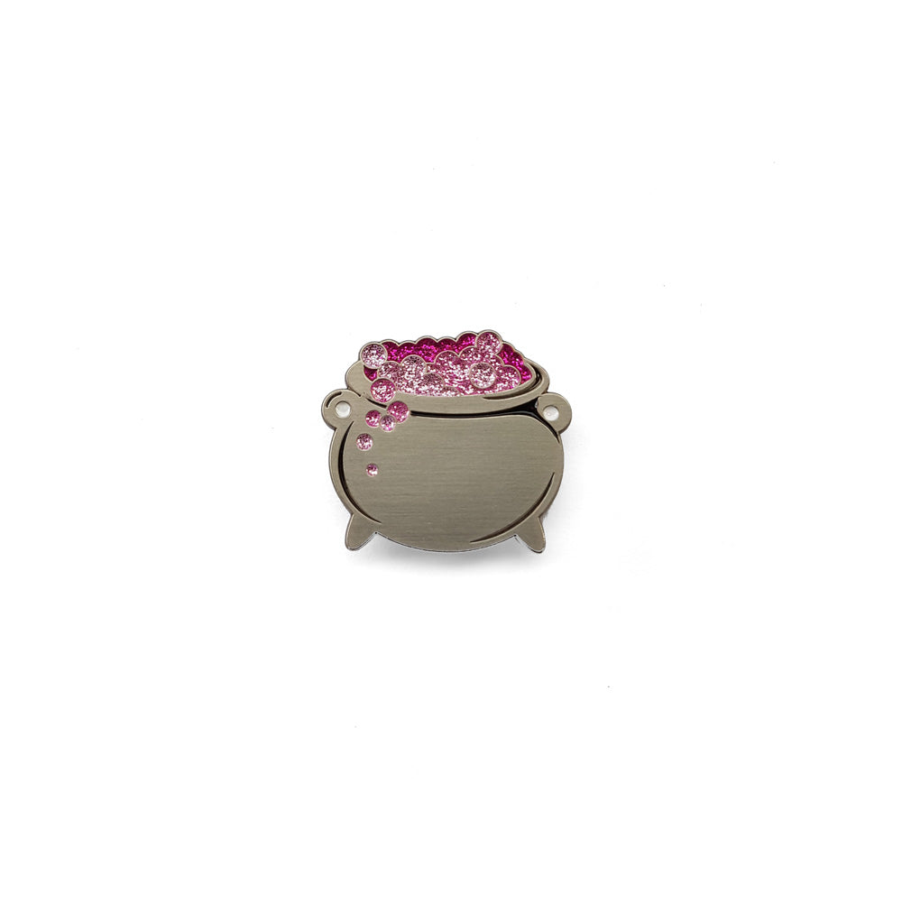 Cauldron Enamel Pin (Pink-Purple)