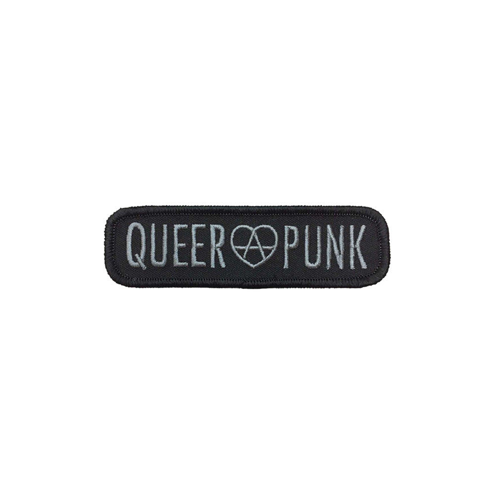 Queer Punk Embroidered Patch (Grey Text)