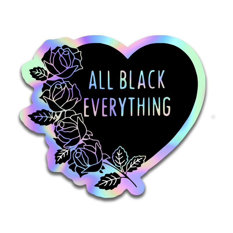 All Black Everything Spring Sticker [Holographic]