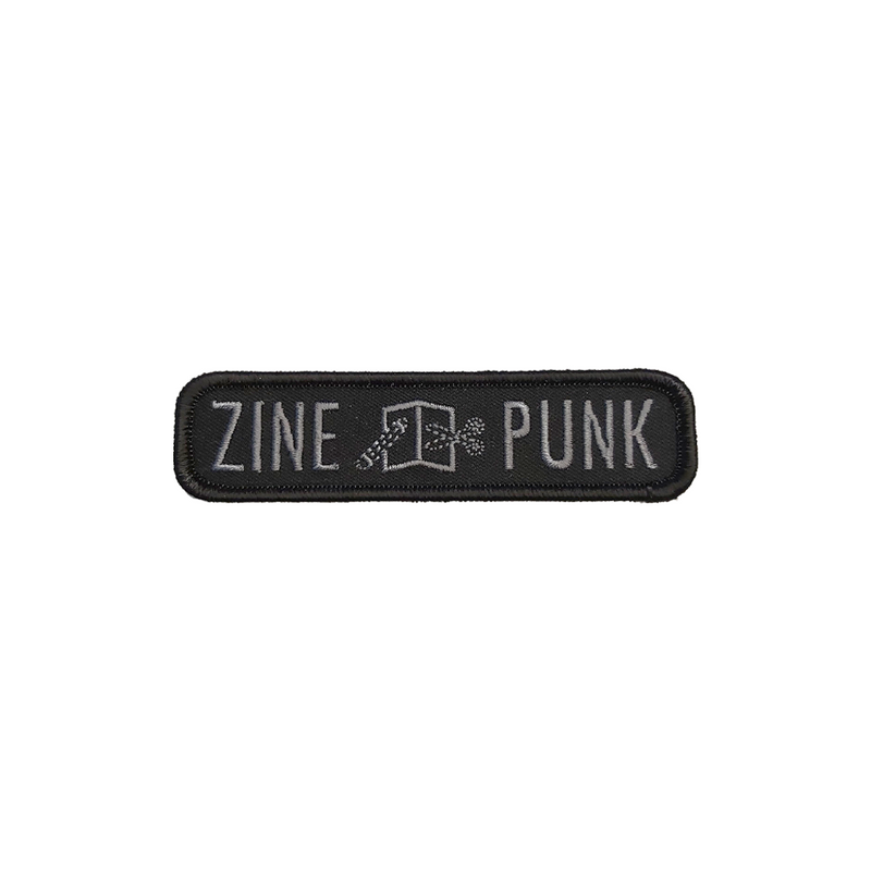 Zine Punk Embroidered Patch