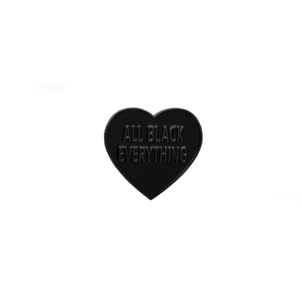 All Black Everything Heart [LE Pin // CPC Variant]