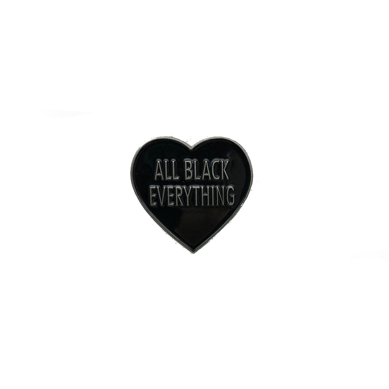 All Black Everything Heart [LE Pin // SPS Variant]