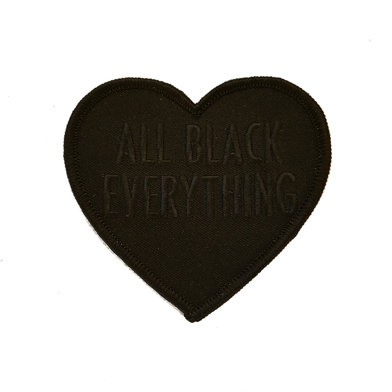 All Black Everything Heart [Black Patch]