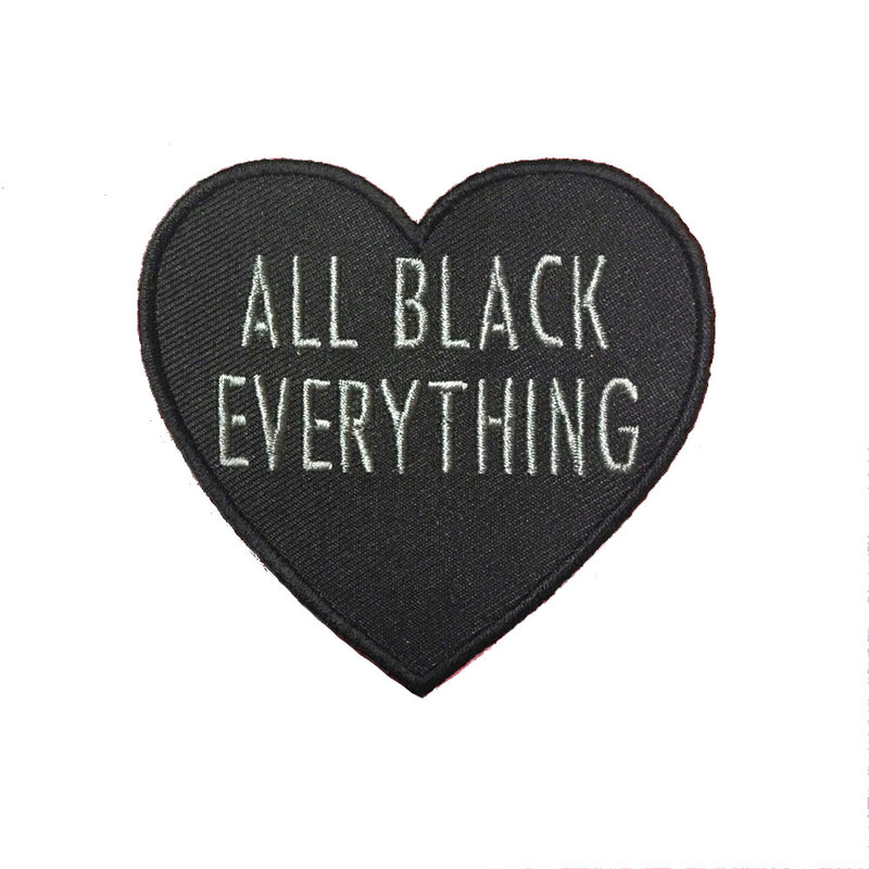 All Black Everything Heart [Grey Patch]