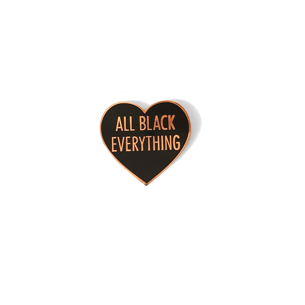 All Black Everything Heart [Rose Gold Variant]