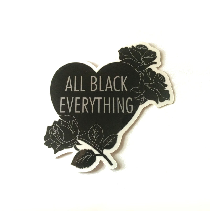 All Black Everything Roses [Vinyl Sticker]