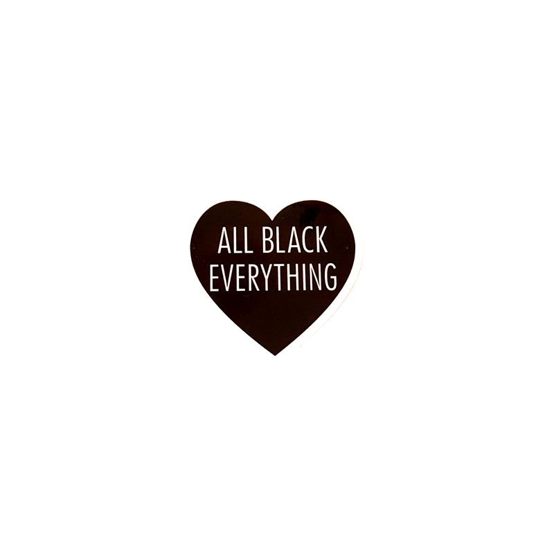 All Black Everything Heart [Metallic Sticker]