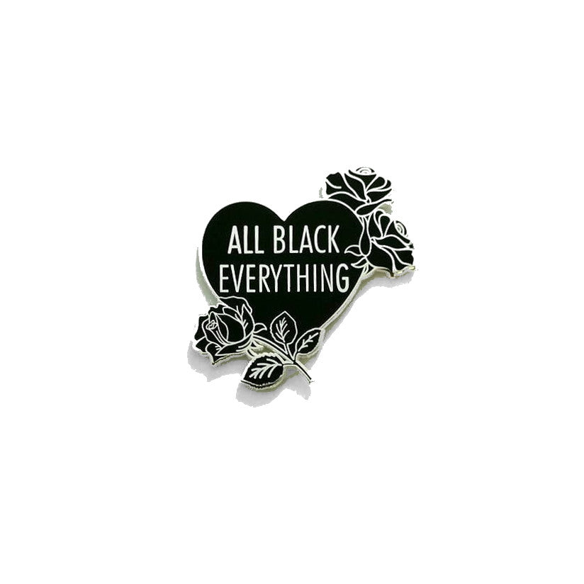 All Black Everything Roses [OG // LE Pin]