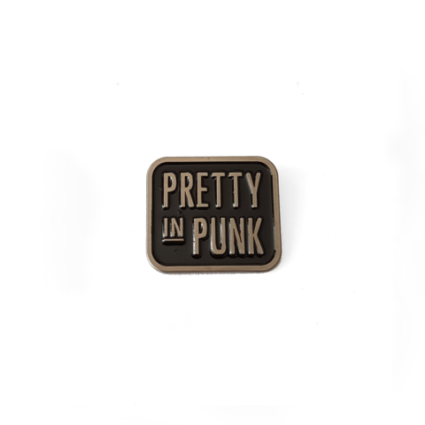 Pretty In Punk Logo Enamel Pin (Silver)