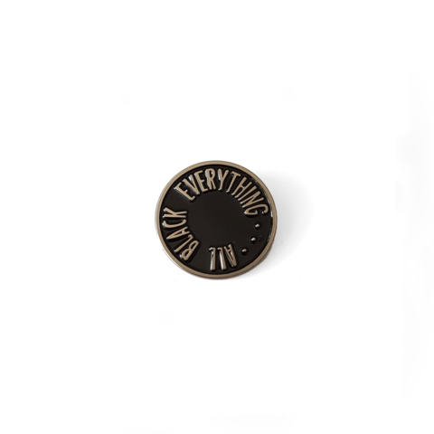 All Black Everything Pin [Skate Punk Silver]