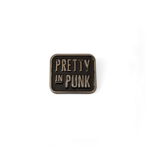 Pretty In Punk Logo Enamel Pin (Chrome)