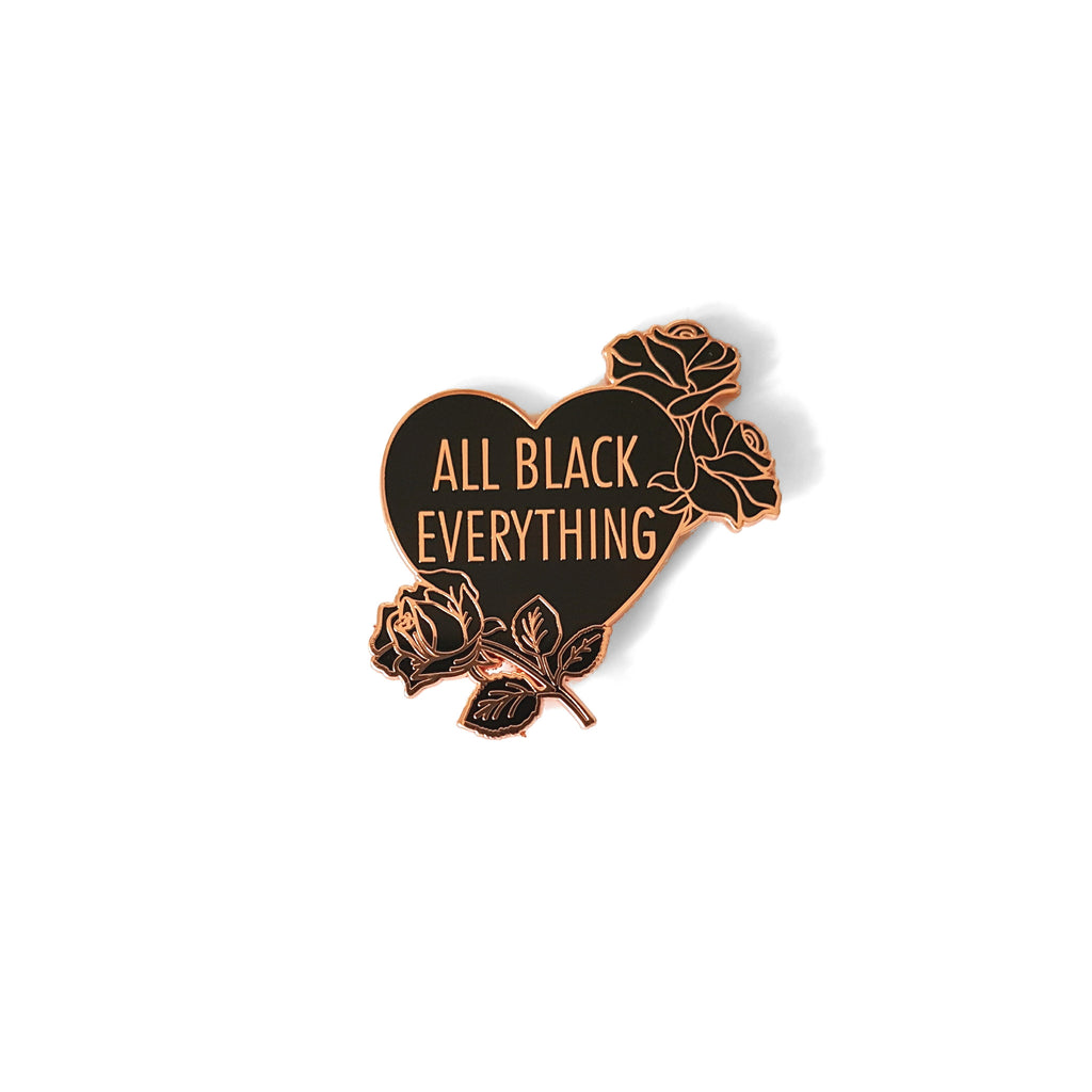 All Black Everything Roses [LE Pin, Rose Gold Variant]