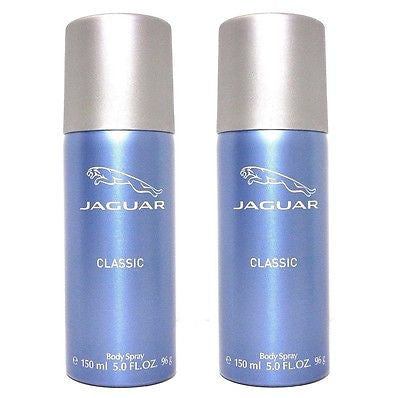 Jaguar Classic Blue Body Spray Deodorant for Men (Set of 2 x 150 ml) - GottaGo.in