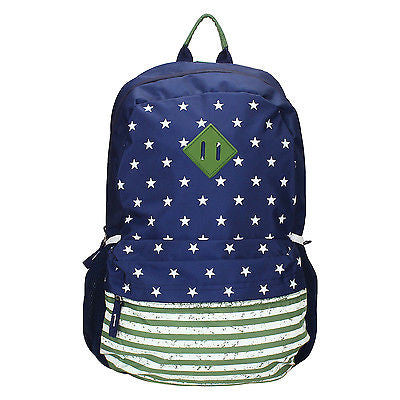 USA Blue-Green Backpack / School Bag by President Bags - GottaGo.in