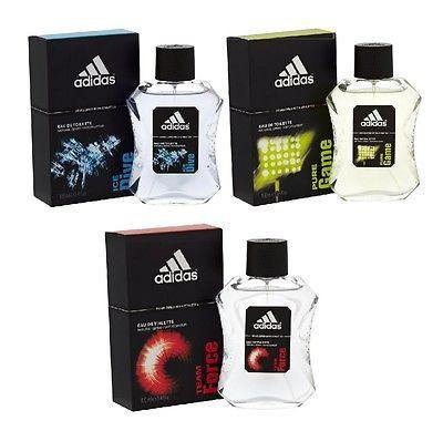 Adidas Combo - Ice Dive, Pure Game and Team Force EDT Perfume for Men (100 ml x 3) - GottaGo.in