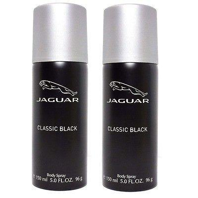 Jaguar Classic Black Body Spray Deodorants for Men 300 ml (Set of 2 x 150 ml) - GottaGo.in