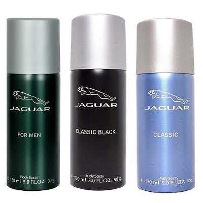 Jaguar Classic Black, Blue & Green Deodorants for Men (Set of 3 x 150 ml) - GottaGo.in