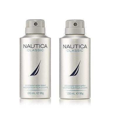 Nautica Classic Deodorant Body Spray for Men (Set of 2 x 150 ml ) - GottaGo.in