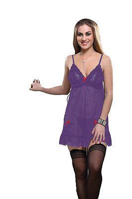 Bold Desire Babydoll Set Purple #508 - GottaGo.in