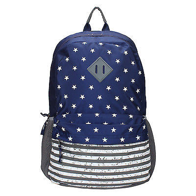 USA Blue-Grey Backpack / School Bag by President Bags - GottaGo.in