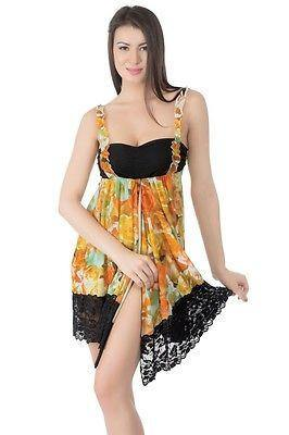Bold Desire Babydoll Set Yellow #525C - GottaGo.in