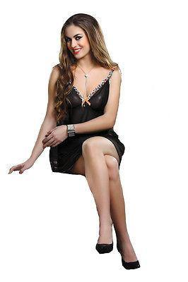 Bold Desire Babydoll Set Black with Orange Lace #506 - GottaGo.in
