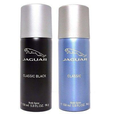 Jaguar Classic Black and Classic Blue Deodorants for Men (Set of 2 x 150 ml)