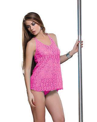 Bold Desire Babydoll Set Pink #505 - GottaGo.in