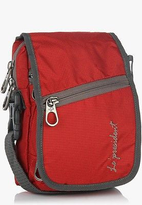 WP 03 Red Waist Pouch / Messenger Bag / Travel Accessory by President Bags - GottaGo.in