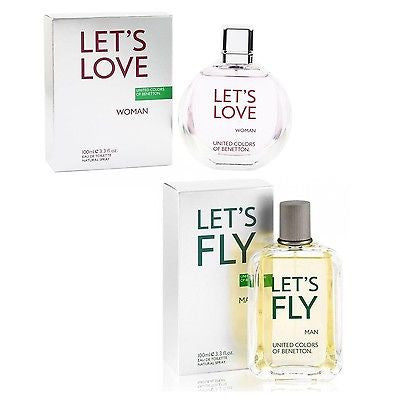 United Colors of Benetton EDT Perfume Combo of Let's Love Women & Let's Fly Men (100 ml x 2) - GottaGo.in