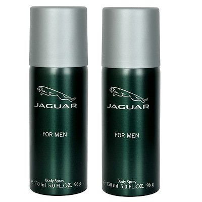 Jaguar Classic Green Body Spray Deodorant for Men (Set of 2 x 150 ml)