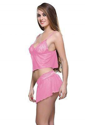 Bold Desire Babydoll Set Pink #907 - GottaGo.in