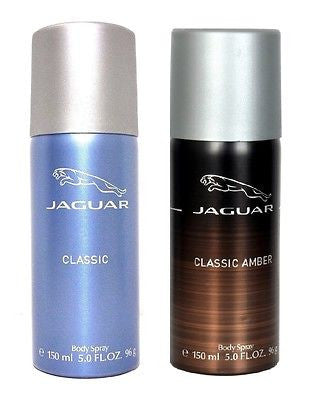 Jaguar Classic Blue and Classic Amber Deodorants for Men (Set of 2 x 150 ml) - GottaGo.in