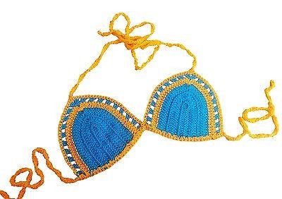 Knot in Love Summer Breeze Crochet Bikini Bra Top - GottaGo.in
