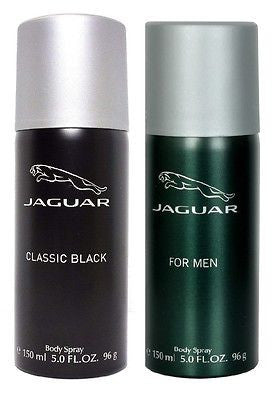 Jaguar Classic Black and Classic Green Deodorants for Men (Set of 2 x 150 ml) - GottaGo.in