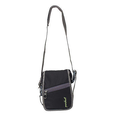 WP 03 Black Waist Pouch / Messenger Bag / Travel Accessory by President Bags - GottaGo.in
