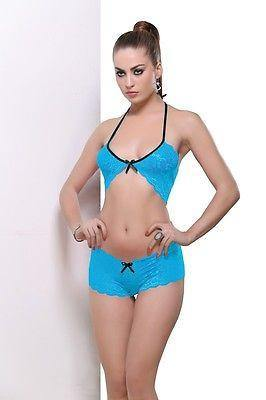 Bold Desire Babydoll Set Blue #902 - GottaGo.in