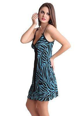 Bold Desire Babydoll Set Blue-Black #520B - GottaGo.in
